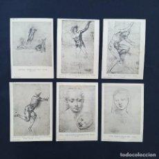 Postales: 15 TARJETAS POSTALES ANTIGUAS BRITISH MUSEUM DIBUJOS MICHELANGELO, RAPHAEL, BOTICELLI (P276). Lote 229072575