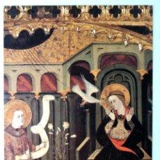 Postales: TARJETA MUSEO DIOCESANO DE SOLSONA : ANUNCIACIÓN 1400-1410 , SIN CIRCULAR. Lote 230732435