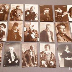 Postales: 24 POSTALES DE ACTORES - C. 1910. Lote 233652250
