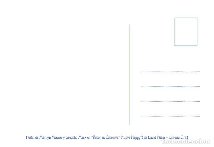 Postales: Postal de Marilyn Monroe y Groucho Marx en Amor en Conserva, de David Miller. Tema: Cine, Love Happy - Foto 2 - 263620440
