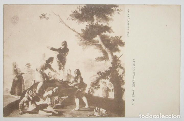 Postales: LOTE 5 POSTALES DE CUADROS DE GOYA. FOTO LAURENT. SIN CIRCULAR NI DIVIDIR. - Foto 3 - 235414800