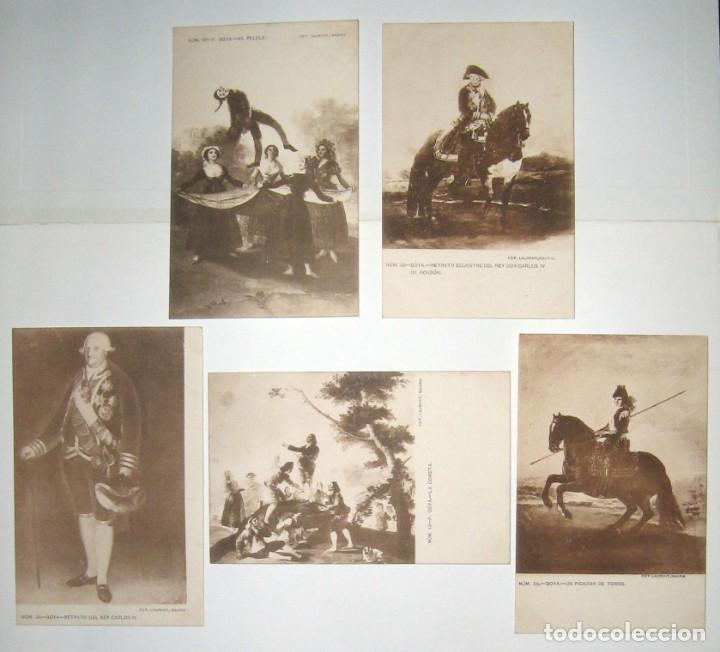 Postales: LOTE 5 POSTALES DE CUADROS DE GOYA. FOTO LAURENT. SIN CIRCULAR NI DIVIDIR. - Foto 8 - 235414800