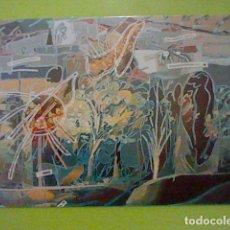 Postales: CASTELLANOS M DOMINGO GALERIA SEIQUER EXPO MAR 1986 TARJETA ORIGINAL 16 X 11 CMS ARTE. Lote 235556370