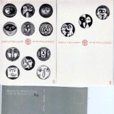 Postales: EDICION POSTALES CONMEMORACION CENTENARIO DE PICASSO. 1981. Lote 235580860