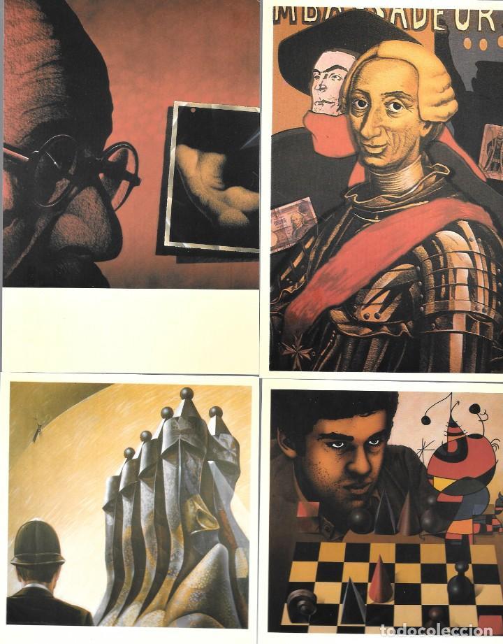 Postales: Antoni Miró, MAIL-ART, el arte por correo. Entregas 7 y 8 1985-1991 - Foto 2 - 235819900