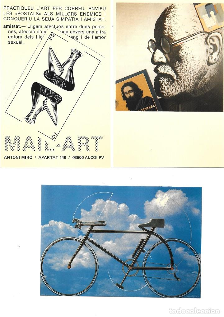 Postales: Antoni Miró, MAIL-ART, el arte por correo. Entregas 7 y 8 1985-1991 - Foto 3 - 235819900