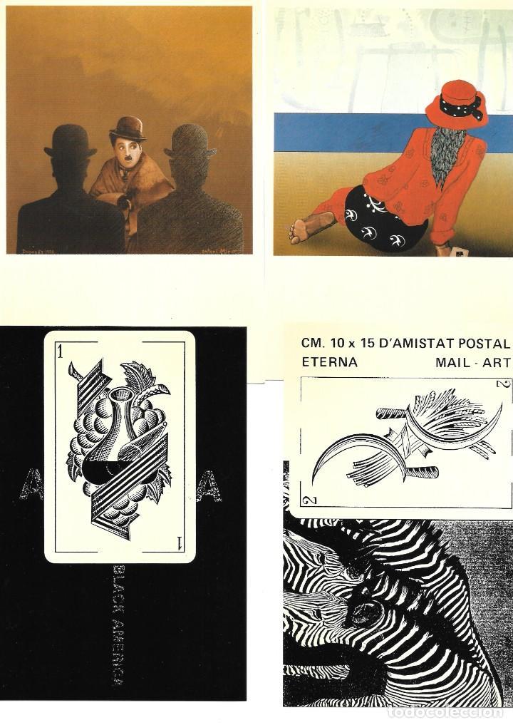 Postales: Antoni Miró, MAIL-ART, el arte por correo. Entregas 7 y 8 1985-1991 - Foto 4 - 235819900