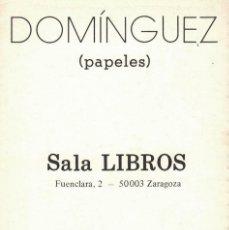 Postales: MIGUEL ÁNGEL DOMÍNGUEZ GRACIA, (PAPELES). / SALA LIBROS. 3 POSTALES + TARJETA INVITACIÓN. Lote 235877565