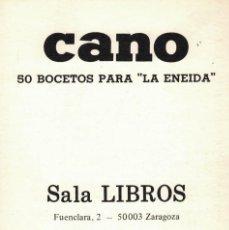 Postales: CANO, 50 BOCETOS PARA LA ENEIDA. / SALA LIBROS. 3 POSTALES + TARJETA INVITACIÓN. Lote 235878640