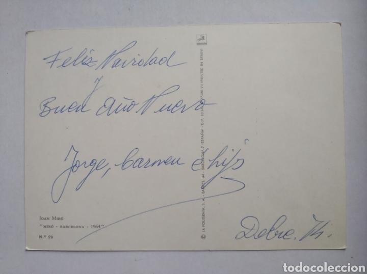 Postales: Postal arte pintura Joan Miro Barcelona 1964 - Foto 2 - 236129705