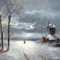 Postales: POSTAL DEL CUADRO SNOWY NIGHT SCENE DE JAMES WALTER GOZZARD TEMA: PINTURA, ARTE, NIEVE, RAPHAEL TUCK. Lote 288124758