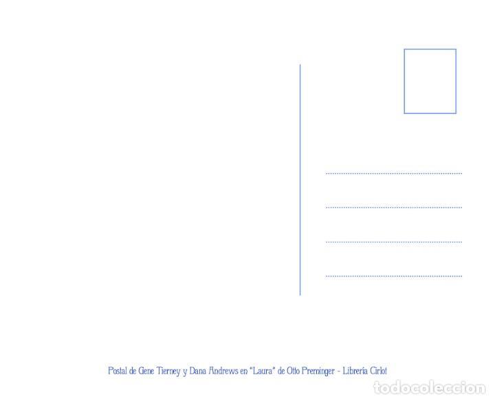 Postales: Postal de Gene Tierney y Dana Andrews en la película Laura, de Otto Preminger. Tema: Cine. - Foto 2 - 268950109