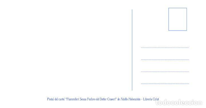Postales: Postal del cartel Fiammiferi Senza Fosforo, de Adolfo Hohenstein. Tema: Pintura, Modernismo, Arte. - Foto 2 - 238660015