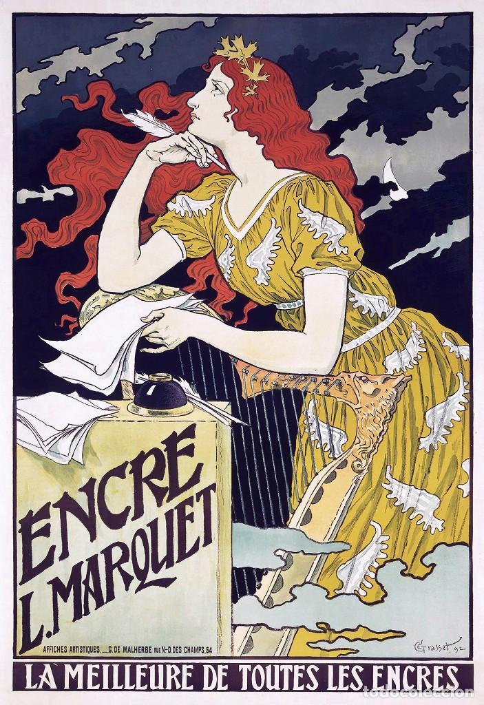 POSTAL DEL CARTEL ENCRE L. MARQUET, DE EUGÈNE GRASSET. TEMA: PINTURA, MODERNISMO, ARTE. (Postales - Postales Temáticas - Arte)
