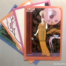 Postales: 4 TARJETAS GRANDES DE G. BARBIER AÑOS 60. Lote 240045495