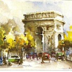 Cartoline: POSTAL PARIS, L'ARC DE TRIOMPHE - COLECCION AQUA PINTURA. Lote 241132570