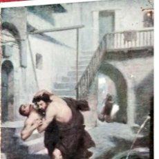 Cartoline: CUADRO. 445 LUCHA DE URSO Y DE CROTÓN POR JAN STYKA. NUEVA. COLOR. Lote 241506100