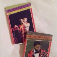 Postales: LOTE ROCK STARS (BOOK OF 30 POSTCARDS) Y MODERN ART (BOOK OF 30 POSTCARDS). 1993. MAGNA BOOKS.. Lote 241551865