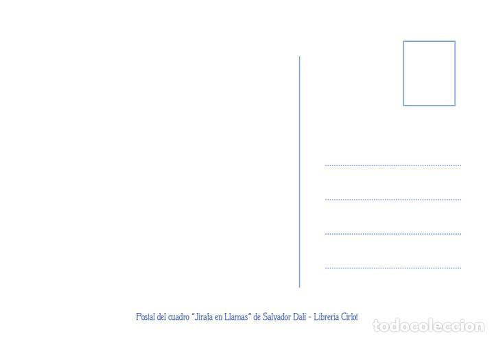 Postales: Postal del cuadro Jirafa en Llamas, de Salvador Dalí. Tema: Pintura, Surrealismo, Arte. - Foto 2 - 241999815