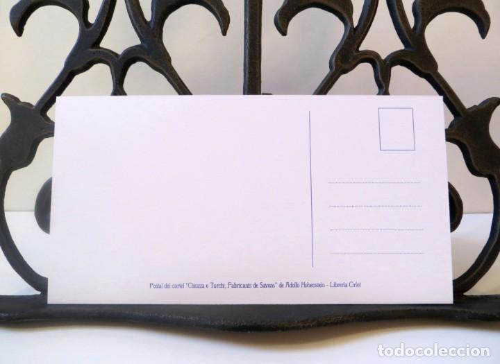 Postales: Postal del cartel Chiozza e Turchi, Fabricants de Savons, de Adolfo Hohenstein. Tema: Modernismo. - Foto 4 - 239850980