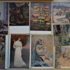 Postales: LOTE DE 42 ANTIGUAS POSTALES DE ARTE, ORIGINALES DE ÉPOCA SIN CIRCULAR, VER FOTOS. Lote 244720515