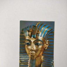Postales: POSTAL TREASURES OF TUTANKHAMUN MASCARA ORO BRITISH MUSEUM - GEORGE RAINBIRD - SIN CIRCULAR. Lote 244866510