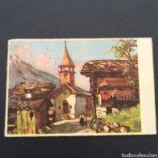 Postales: POSTAL ANTIGUA ARTE PUEBLO CON IGLESIA AT. Lote 246150260