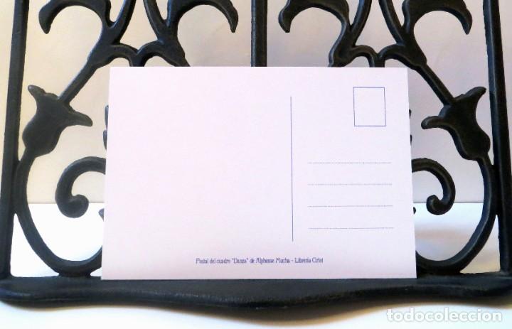 Postales: Postal del cuadro Danza, de Alphonse Mucha. Tema: Pintura, Modernismo, Art Noveau, Arte. - Foto 4 - 241011160