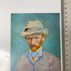 Postales: POSTAL. VINCENT VAN GOGH. ZELFPORTRET, PARIJS 1887. VAN GOGH MUSEUM AMSTERDAM 1972.. Lote 246309155