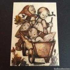 Postales: POSTAL ANTIGUA ARTE MARÍA INNOCENTIA HUMMEL FROHE FAHRT HAPPY RIDE AT. Lote 246335925