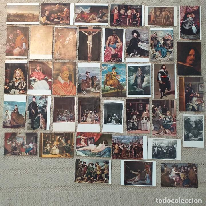 38 POSTALES DE CUADROS DE VELÁZQUEZ (Postales - Postales Temáticas - Arte)