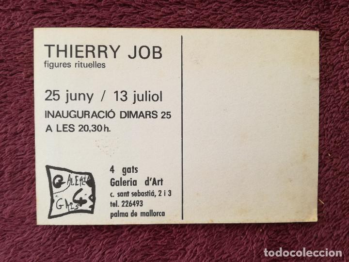 Postales: THIERRY JOB - FIGURES RITUELLES - EXPOSICION 4 GATS - Foto 2 - 248492550