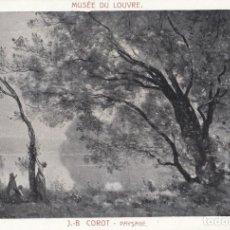 Postais: (4120) POSTAL PINTURA MUSEO LOUVRE - J.B. COROT - PAISAJE. Lote 248610070
