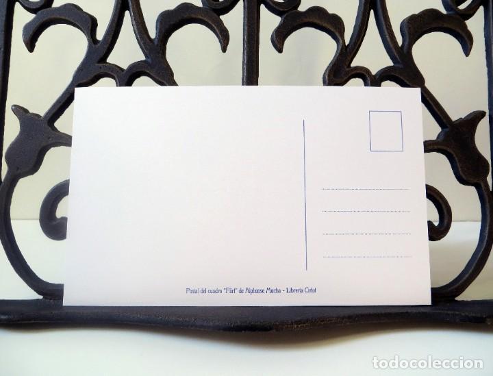 Postales: Postal del cuadro Flirt, de Alphonse Mucha. Tema: Pintura, Modernismo, Art Noveau, Arte. - Foto 4 - 241021240