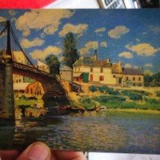 Cartes Postales: POSTAL ALFRED SISLEY 1839 - 1899 LE PONT A VILLENEUVE LA GARENNE 1872 S/C. Lote 250334880