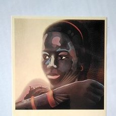Postales: ANTONI MIRÓ. POSTAL FUTUR NEGRE, 1972. SERIE AMÉRICA NEGRA. ALCOIARTS MAIL-ART. Lote 251138625