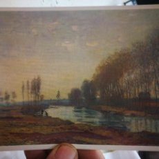Cartes Postales: POSTAL MONET CLAUDE ÓSCAR 1840-1926 RIVER SCENE NATIONALE GALLERY S/C. Lote 251199790