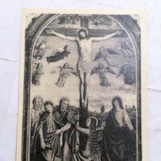 Postales: POSTAL CERTOSA DI PAVIA, LA CROCEFISSIONE. Lote 254166280