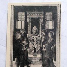 Postales: POSTAL CERTOSA DI PAVIA, SANT'AMBROGIO FRA QUATTRO SANTI NELLA VI CAPPELLA DI SINISTRA. Lote 254166705