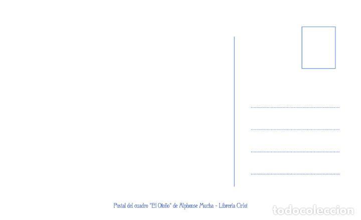 Postales: Postal del cuadro El Otoño de Alphonse Mucha. Tema: Pintura, Modernismo, Art Noveau, Arte, LAutomne - Foto 2 - 254521745