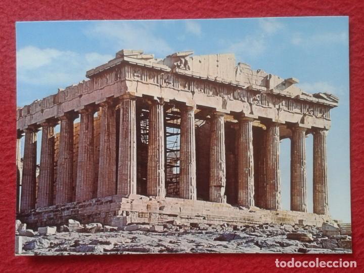 POST CARD ARTE GRIEGO GREEK ART COLECCIÓN PERLA EL PARTENÓN ATENAS ATHENS GREECE GRECIA VER FOTO.... (Postales - Postales Temáticas - Arte)