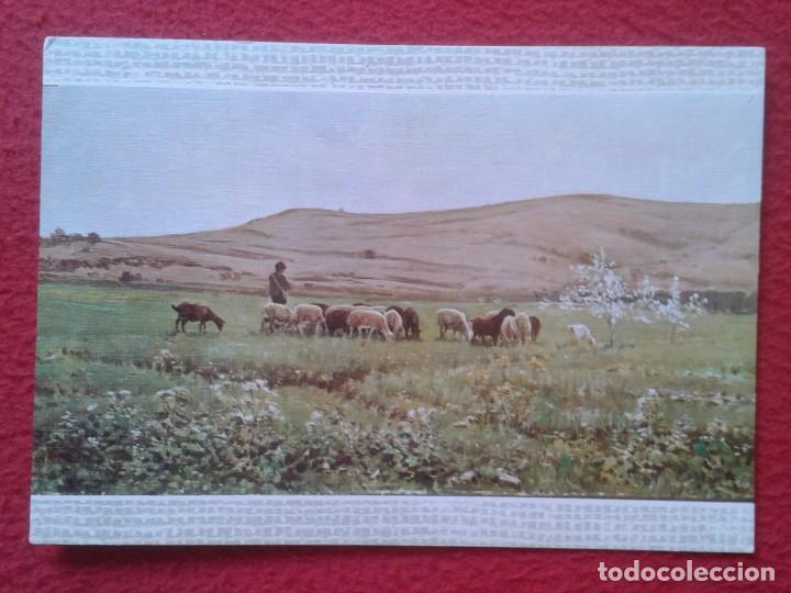 POST CARD Nº 21 MUSEO DE ARTE MODERNO BARCELONA JOAQUÍN VAYREDA LO REMAT, IMAGEN DE OVEJAS ? CABRAS? (Postales - Postales Temáticas - Arte)