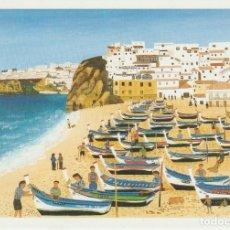 Postales: POSTAL ARTE . ANNE GUYONNEAU . ALBUFEIRA . PORTUGAL ... LIGERO DOBLEZ. Lote 254601225
