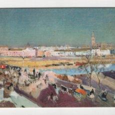 Postales: PUENTE DE TRIANA, SOROLLA -ESCUDO DE ORO, 1970-. Lote 254887435
