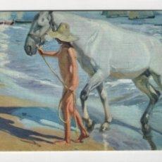 Postales: EL BAÑO DEL CABALLO, SOROLLA -ESCUDO DE ORO, 1970-. Lote 254887670