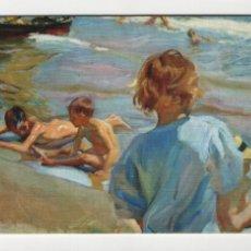 Postales: NIÑOS EN LA PLAYA, SOROLLA -ESCUDO DE ORO, 1970-. Lote 254887785