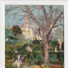 Postales: JARDINES DEL ALCÁZAR DE SEVILLA EN INVIERNO, SOROLLA -ESCUDO DE ORO, 1970-. Lote 254888635