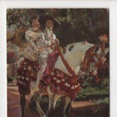 Postales: 1ª SERIE DE MUSEOS · RETRATO DE ELENA Y MARÍA EN TRAJES VALENCIANOS, SOROLLA -ESCUDO DE ORO, 1968-. Lote 254889010
