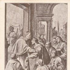 Postales: (175) POSTAL PINTURA - A. VILADOMAT - VOCACIÓN DE S. BRUNO (DIBUJO PARA CUADRO MONTEALEGRE) - H.J.T.. Lote 254890120