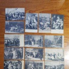 Postales: LOTE 21 POSTALES CUADROS MUSEO DEL PRADO. FOTOGRAFÍA LACOSTE MADRID. SIN CIRCULAR. AÑOS 50-60.. Lote 258184825